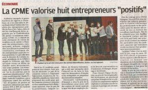 Article la Provence : CPME13 et Trophées des Entrepreneurs Positifs