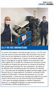 La seconde vie des ordinateurs - Ville de Martigues