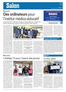 EVA fait don d'ordinateurs à l'IME des Cyprès de Salon-de-Provence
