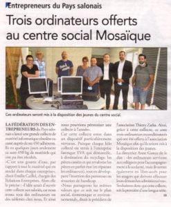 VIDÉO - Grande collecte de matériel informatique : EVA s'associe à la Fédération des Entrepreneurs du Pays Salonais